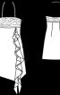 Сукня силуету ампір з бретеллю-петлею і воланом - фото 3