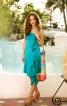 Сукня силуету ампір з бретеллю-петлею і воланом - фото 1