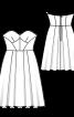 Сукня-бюстьє з розкльошеною спідницею - фото 3
