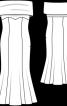 Сукня-бюстьє зі спідницею годе - фото 3