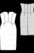 Сукня-бюстьє з атласного жакарду - фото 3