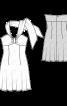 Сукня міні з широкою бретеллю-петлею - фото 3