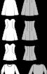 Сукня-бюстьє коротка розкльошеного крою - фото 3
