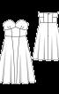 Сукня-бюстьє зі спідницею А-силуету - фото 3
