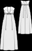 Сукня-бюстьє із завищеною талією - фото 3