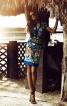 Сукня приталеного силуету з V-подібними вирізами - фото 1