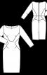 Сукня-футляр з рельєфними швами - фото 3