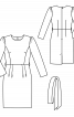 Сукня-футляр з широким поясом-бантом - фото 3