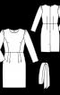 Платье-футляр отрезное со сборками по окату рукава - фото 3