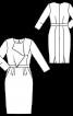 Сукня-футляр з воланом на ліфі - фото 3