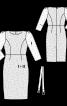 Сукня-футляр мереживна з поясом - фото 3