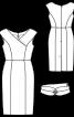 Сукня-футляр з широким фігурним поясом - фото 3