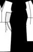 Сукня-футляр з V-подібними вирізами - фото 3