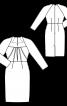 Платье-футляр с вырезом в форме трапеции - фото 3