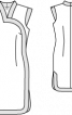 Сукня-футляр в азійському стилі з контрастними планками - фото 3