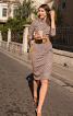 Сукня відрізна з вирізом човником - фото 1