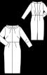 Сукня вузька трикотажна в стилі 60-х - фото 3