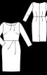 Сукня-футляр відрізна з вирізом човником - фото 3