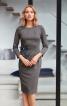 Сукня-футляр відрізна з вирізом човником - фото 1