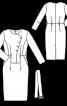 Сукня-футляр з асиметричною застібкою - фото 3