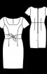 Сукня вузького крою із боковими зав'язками - фото 3