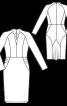 Сукня-футляр з рукавами-реглан і воланом - фото 3