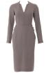 Сукня-футляр з рукавами-реглан і воланом - фото 2