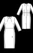 Сукня-футляр з косими виточками - фото 3