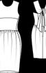 Сукня-футляр зі спідницею-тюльпан - фото 3