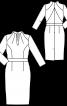Сукня-футляр із коміром-стойкою - фото 3