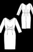 Сукня-футляр з рукавами 3/4 - фото 3
