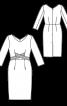 Сукня-футляр з перехрещеними планками - фото 3