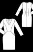 Платье-футляр с карманами в рельефных швах - фото 3