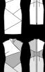 Сукня-футляр в стилі колор-блок із блискавкою на спинці - фото 3