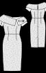 Сукня-футляр з широким коміром - фото 3