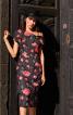 Сукня-футляр з широким коміром - фото 1