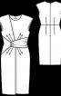Сукня вузька з імітацією запаху і драпіровками - фото 3