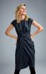 Сукня вузька з імітацією запаху і драпіровками - фото 1