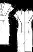 Сукня-футляр із шерстяного крепу - фото 3