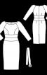 Платье-футляр средней длины - фото 3