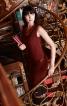 Сукня міні з хвилеподібним вирізом горловини - фото 1