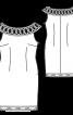 Сукня-футляр з ажурною кокеткою - фото 3