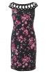 Сукня-футляр з ажурною кокеткою - фото 2