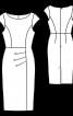 Сукня-футляр із брошкою - фото 3