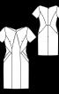 Сукня-футляр з кишенями і рельєфними швами - фото 3
