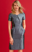Сукня-футляр з кишенями і рельєфними швами - фото 1