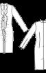 Сукня вузького крою з воланами - фото 3
