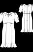 Сукня трикотажна з рукавами-ліхтариками - фото 3
