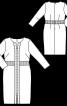 Сукня-футляр із вшивним поясом - фото 3