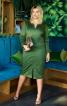Сукня-футляр із вшивним поясом - фото 1